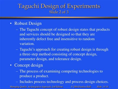 design of experiment using taguchi approach ppt 169 2004 prentice hall powerpoint presentation id 315872
