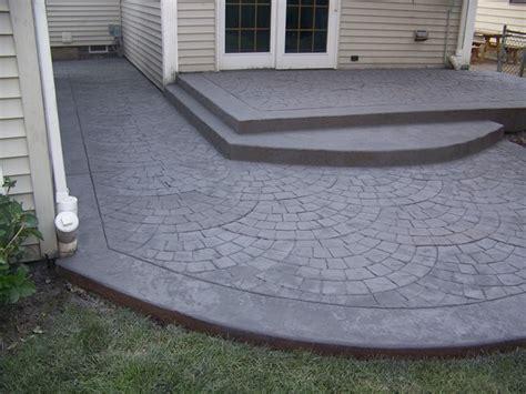 Decorative Concrete Patio Ideas by Sted Concrete Raised Patio Patio Deck And Screen