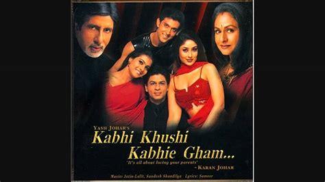 kabhi khushi kabhie gham title lyrics  kabhi khushi kabhie gham  full hd song youtube