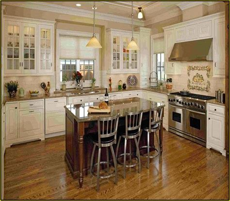 portable kitchen island  seating antique white