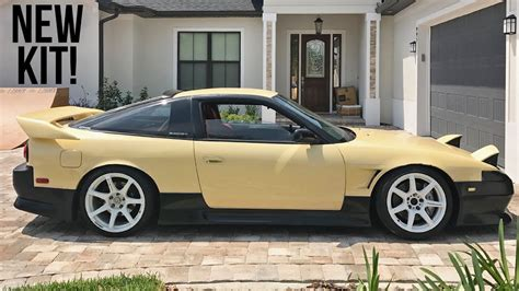 nissan 240sx cream cream s13 gets a new body kit youtube