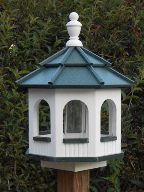 Handmade Bird Feeders - vinyl gazebo bird feeder amish handmade