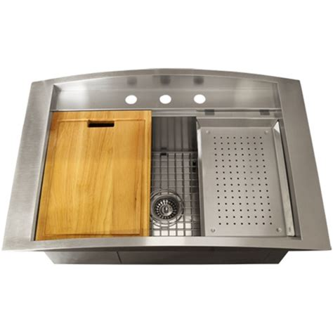 Kitchen Sink Accessories Ticor Tr2000 Overmount 16 Stainless Steel Square Kitchen Sink Accessories