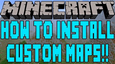 how to install custom maps in minecraft how to install custom maps in minecraft 1 7 2 youtube