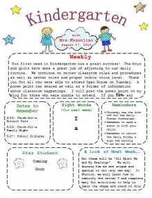 Kindergarten Newsletter Template 25 best ideas about kindergarten newsletter on