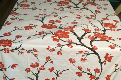 bed sheet fabric cotton bed sheet fabric oriental cherry blossoms by