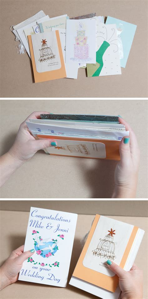 make photo cards how to diy an adorable album to save special greeting cards