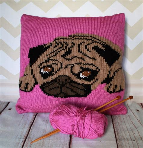pug coat knitting pattern pug pet portrait cushion cover knitting pattern knitting pattern by ruby and the foxes
