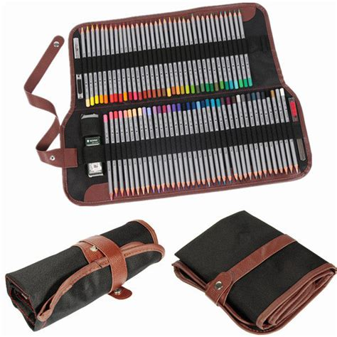 Roll Up Pencil 72 roll up pencils wrap canvas leather sketch
