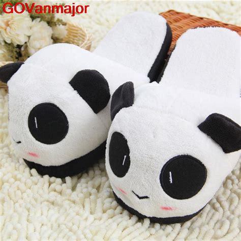 big animal slippers panda slippers plush pantoufle femme shoes