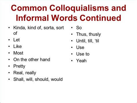 Useful Phrases For Informal using formal and informal language appropriately ppt