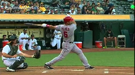 baseball swing finish albert pujols hitting slow motion home run baseball swing