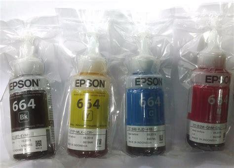Tinta Epson T664 Original 4 tinta original epson l110 l210 l350 l355 l555 t664 kit 4