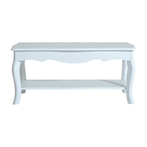 Homcom Cottage Home Wood Coffee Table White Coffee Home Goods Coffee Tables