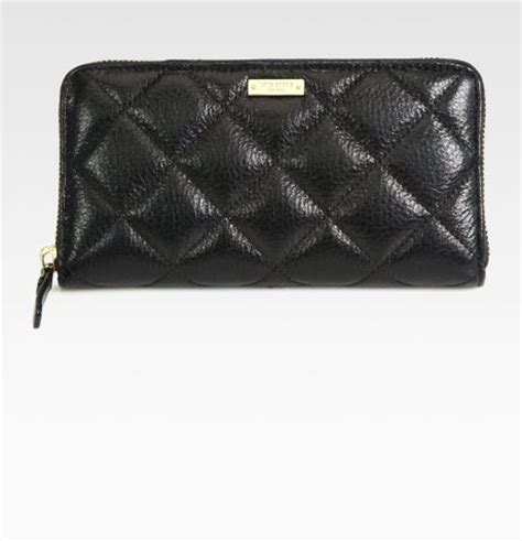 Kate Spade Quilted Wallet by Kate Spade Quilted Ziparound Wallet In Black Lyst