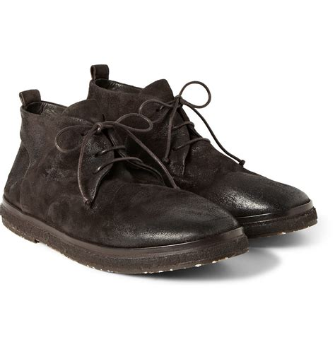 marsell boots marsell brushednubuck desert boots in brown for lyst
