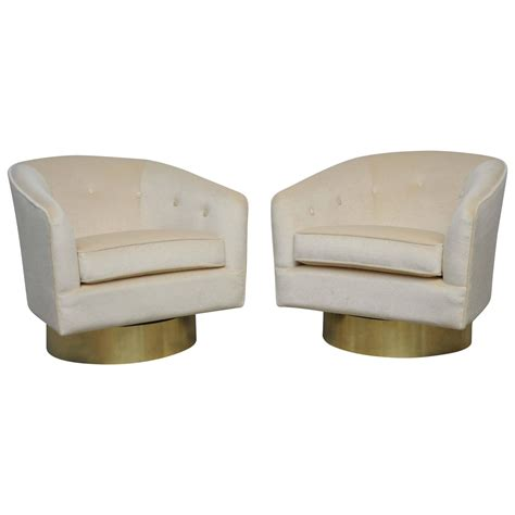 swivel bases for chairs milo baughman brass base swivel chairs at 1stdibs