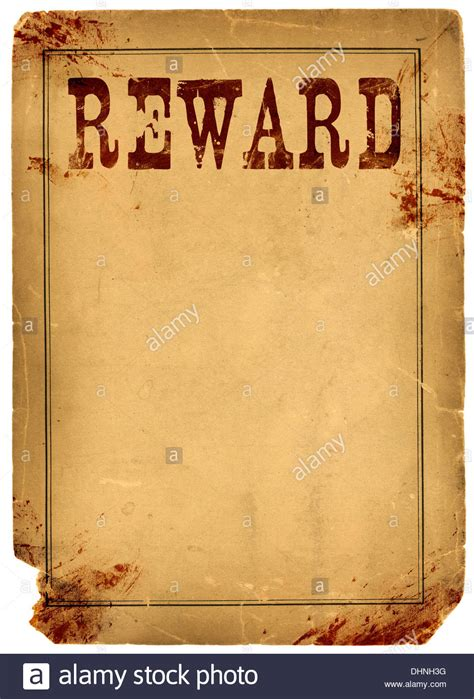 reward posters template bloody stained western reward poster made from real