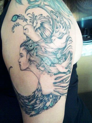 athena tattoo with design liza paizis original