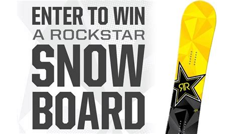 Snowboard Giveaway Contest - rockstar green valley snowboard sweepstakes rockstar energy drink