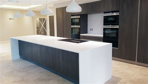 corian kitchen island worktop installation in milton keynes