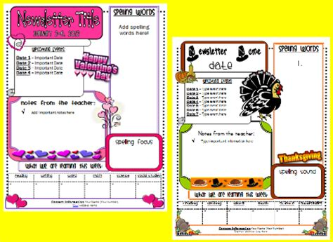 school newsletter templates free classroom freebies classroom newsletter bundle