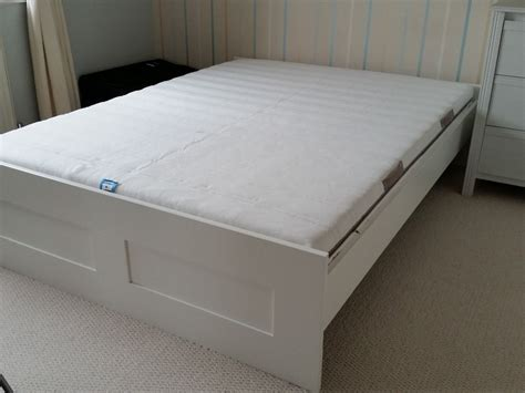 Ikea Brimnes Bed Frame With Malvik Mattres King Size Brimnes Bed