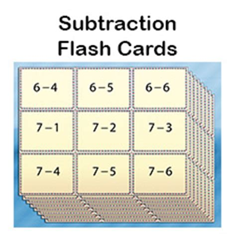 print flash cards kinkos free subtraction flash cards for kids printable pdfs