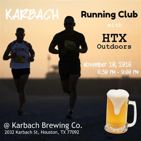 Houston Running Calendar Karbach Running Club With Htxo Community Calendar Haif