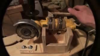 homemade wood lathe duplicator   angle grinder