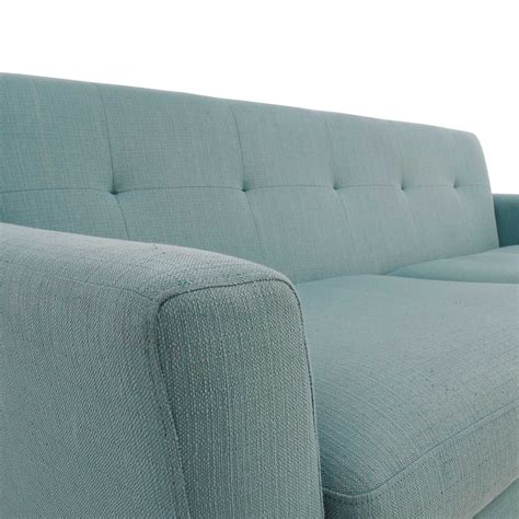 mid century modern tufted sofa 59 midcentury modern tufted light teal loveseat