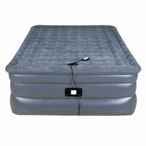 queen size raised air bed  remote control pump