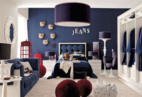 superb Teen Room Paint Ideas #5: Blue-and-white-is-a-popular-color-combination-for-the-boys-bedroom.jpg