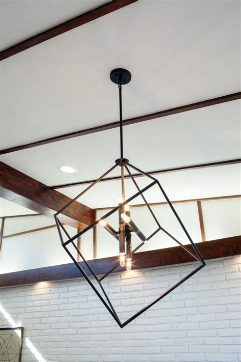 Modern Light Fixture A Fixer Take On Midcentury Modern Hgtv S Fixer With Chip And Joanna Gaines Hgtv