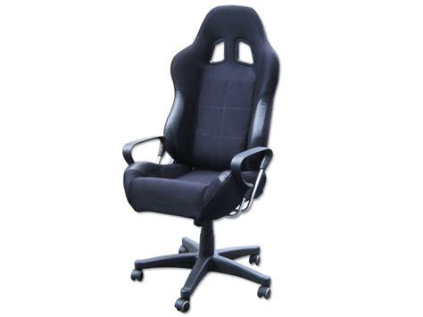 si 232 ge baquet fauteuil de bureau noir tissu et simili cuir