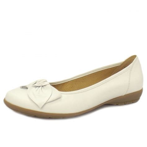 white ballet shoes for gabor shoes glitz white leather ballet shoes mozimo