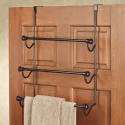 the door bath towel holder bronze the door three bar towel rack