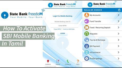 sbi bank banking registration how to register sbi mobile banking state bank freedom app