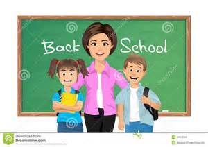 back to teacher with schoolchildren royalty