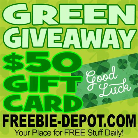 Green Giveaways - did you win green giveaway win a 50 amazon st patty s day gift card