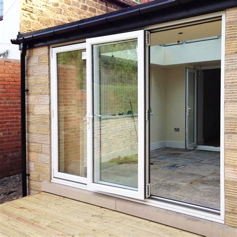 Upvc Bifold Patio Doors 10ft White Upvc Bifold Folding Doors Flying Doors