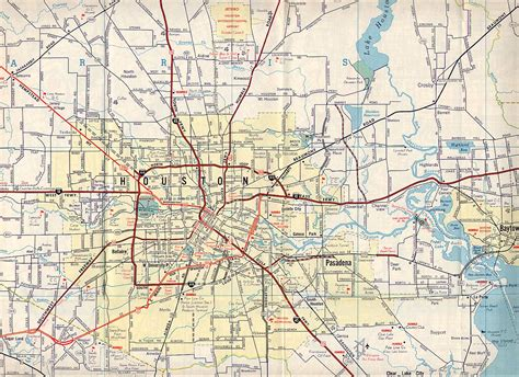 road map of texasfreeway gt houston gt historical information gt road maps
