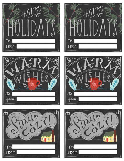 Free Printable Chalkboard Christmas Gift Tags | free chalkboard style printable gift tags poppytalk