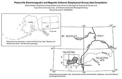 geophysics data petersville mining district | alaska