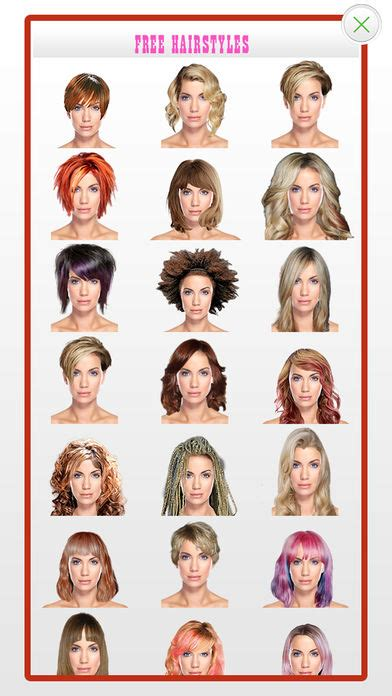 haircut for face shape app hairstyles for your face shape app download android apk