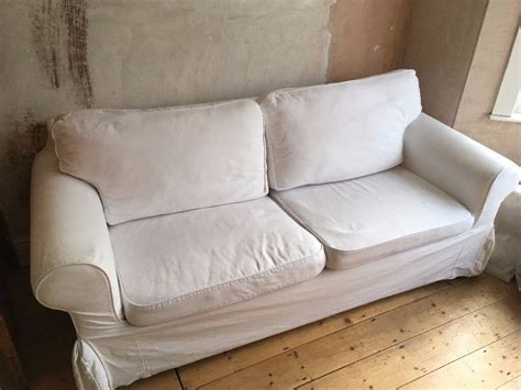 Ikea Sofa Bed by White Ikea Ektorp Two Seater Sofa Bed In Southville