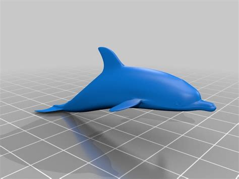 How To Make A 3d Dolphin Out Of Paper - dolphin by everettforth thingiverse