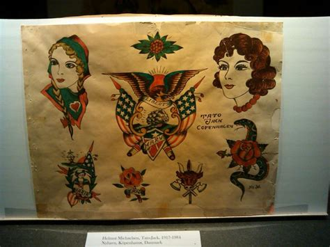 tattoo flash museum maritime museum exhibit vintage tattoo flash pinterest