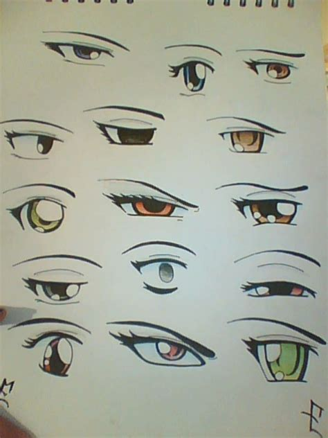 imágenes anime ojos colores google and anime on pinterest