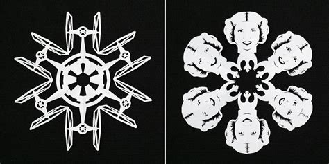 wars snowflakes template how to make wars snowflakes diy crafts handimania